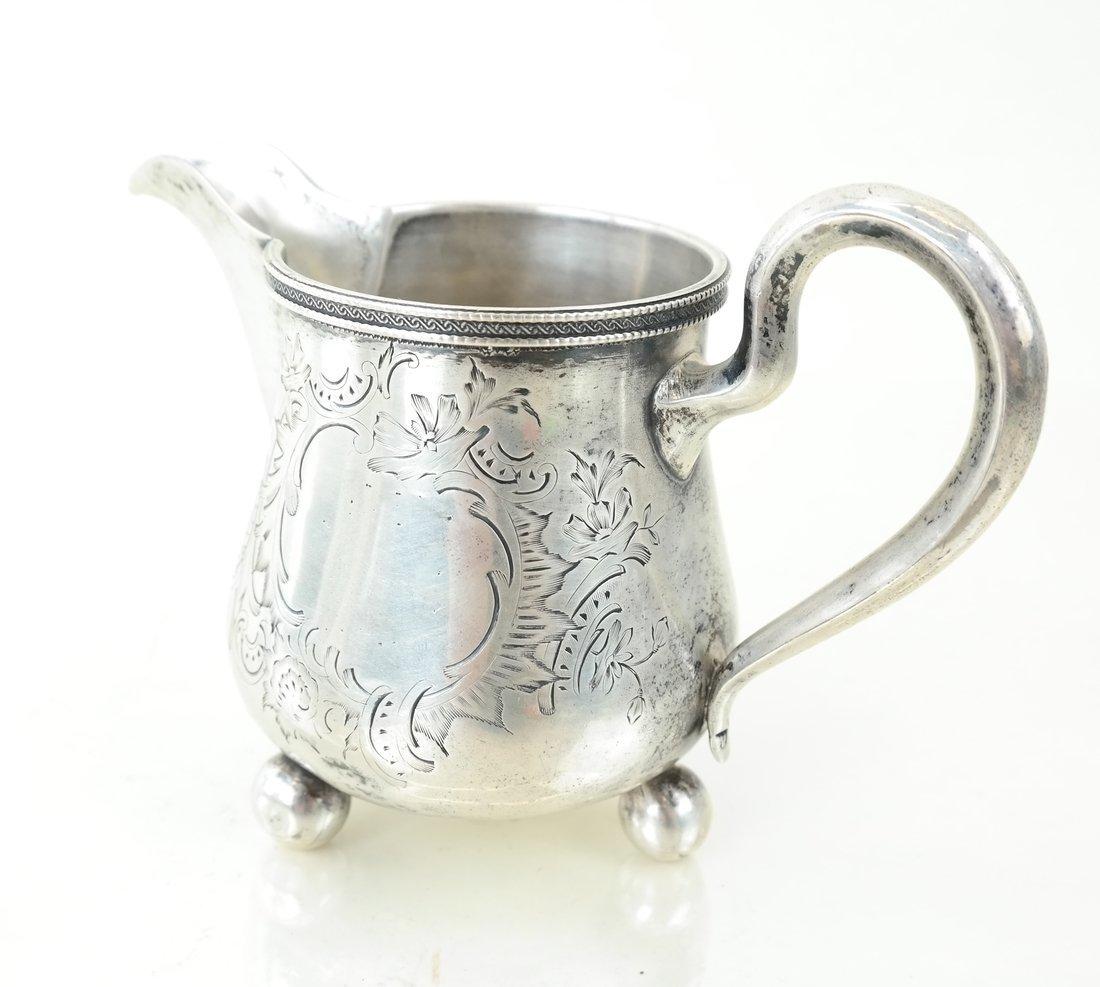 Russian Silver Teapot & Similar Creamer - 3