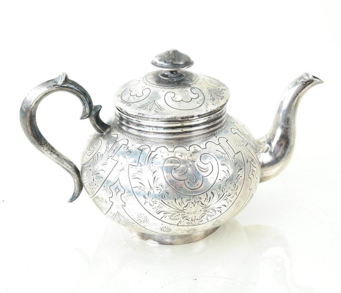 Russian Silver Teapot & Similar Creamer - 4