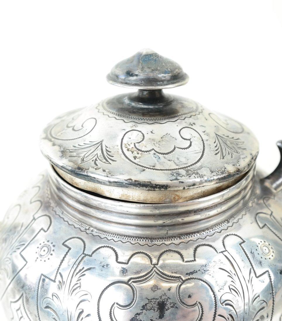 Russian Silver Teapot & Similar Creamer - 5