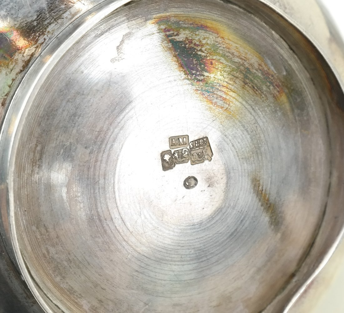 Russian Silver Teapot & Similar Creamer - 9