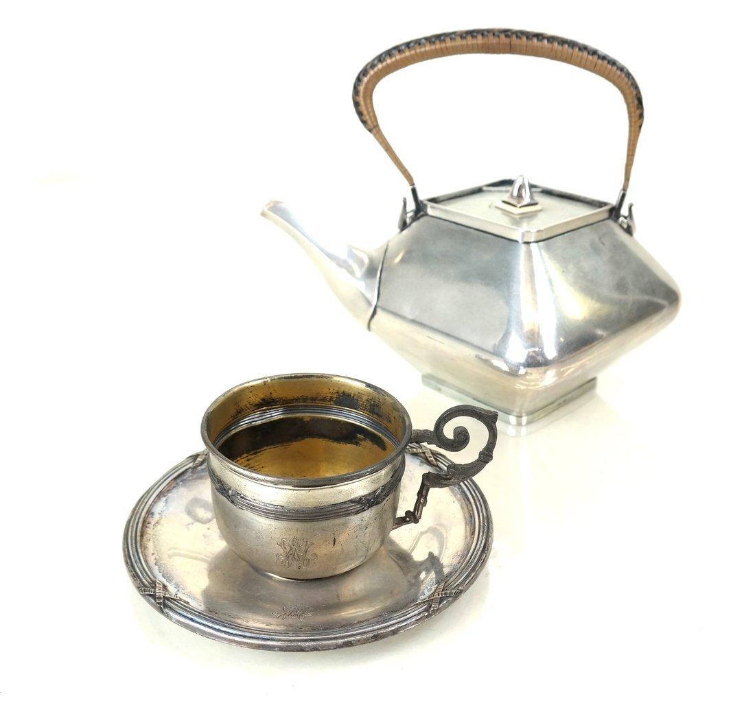 Three German .800 Silver Tea Articles