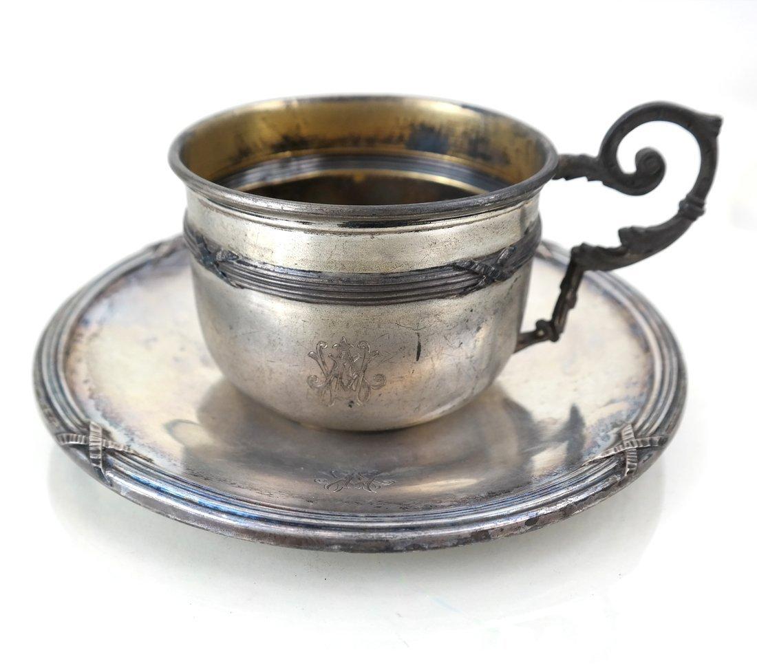 Three German .800 Silver Tea Articles - 4