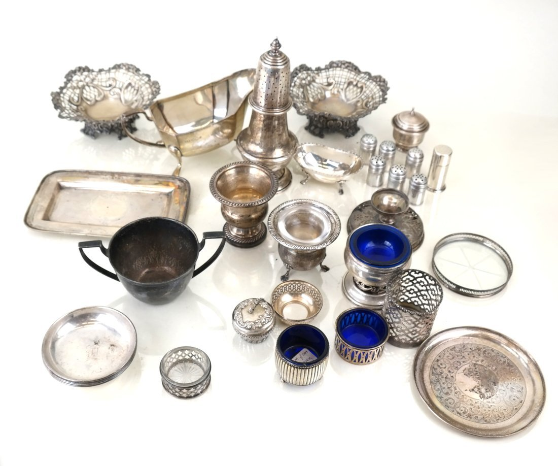 30 Russian English American Silver Items