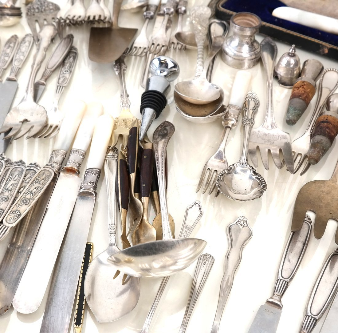 Various Silver-Plated Flatware & Items - 2