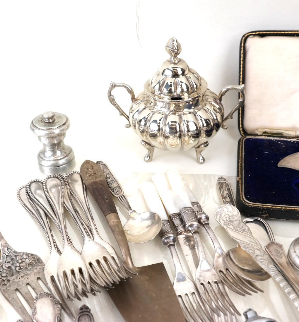 Various Silver-Plated Flatware & Items - 4