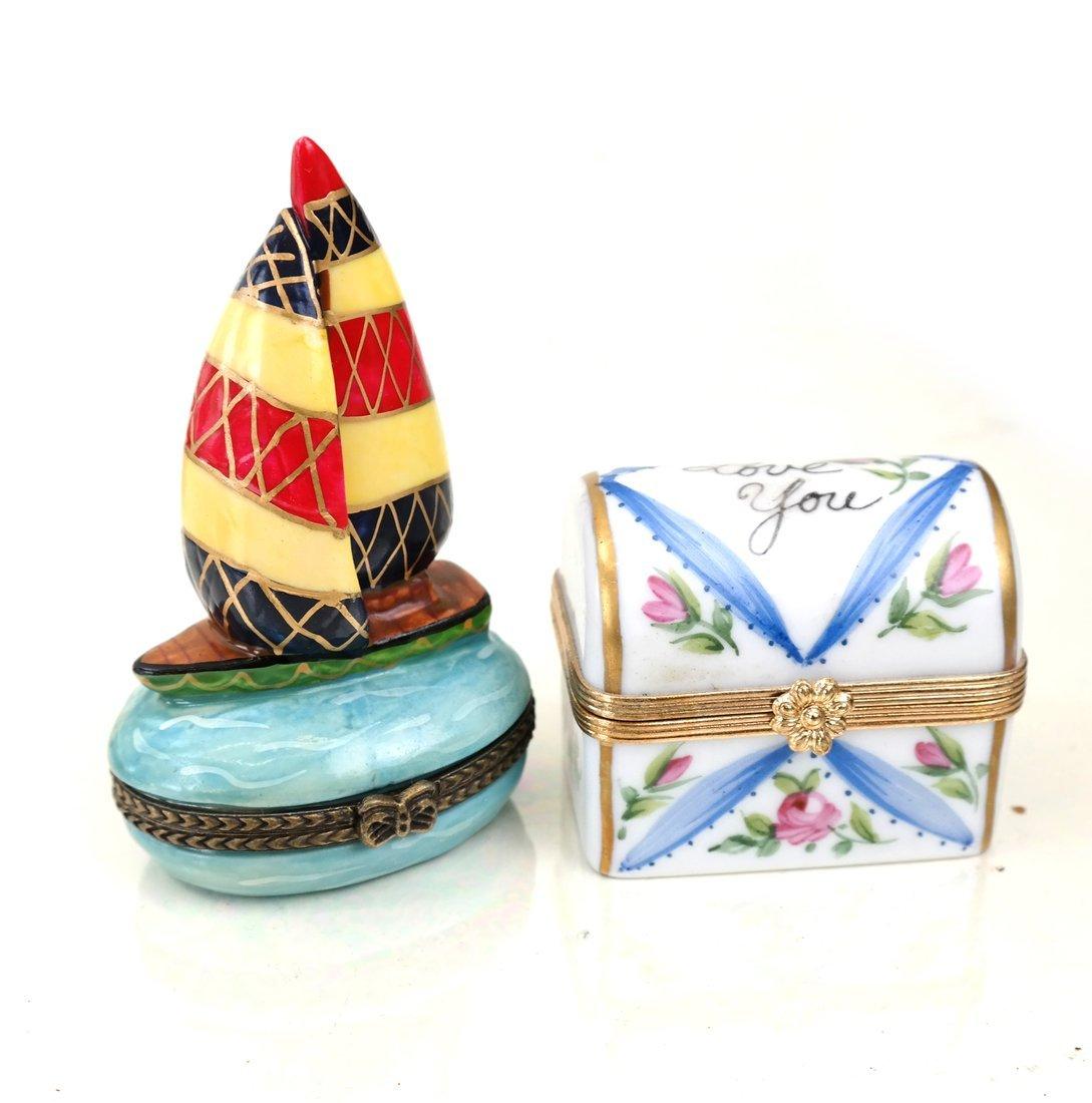 8 Continental Porcelain Figural Boxes - 2