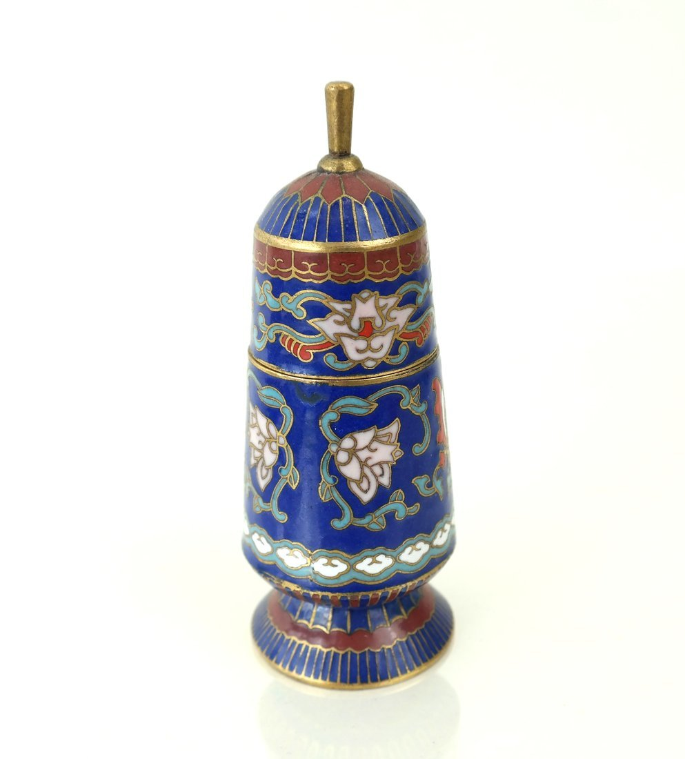 Five Asian Enamel or Ceramic Small Boxes - 2