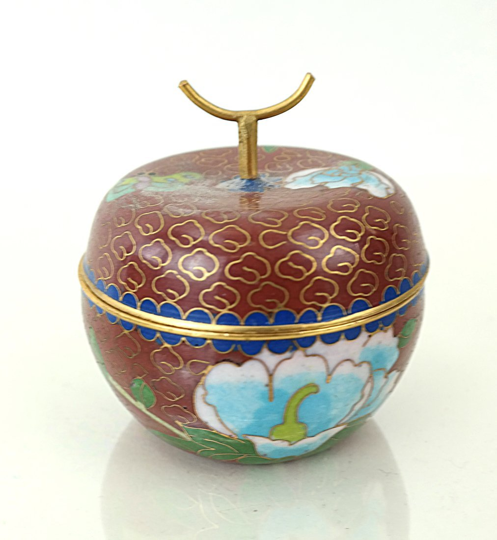 Five Asian Enamel or Ceramic Small Boxes - 3