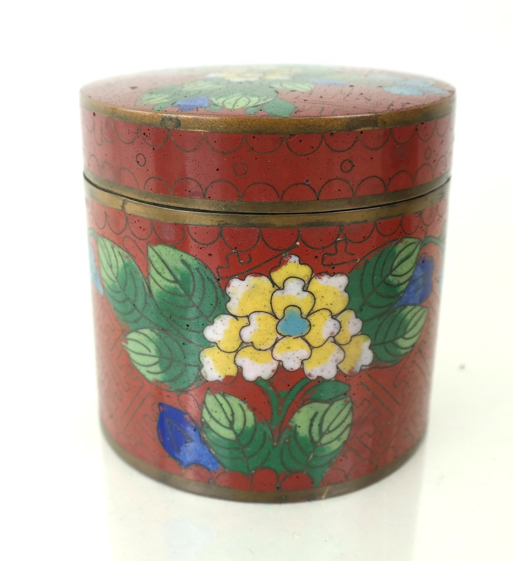 Five Asian Enamel or Ceramic Small Boxes - 4