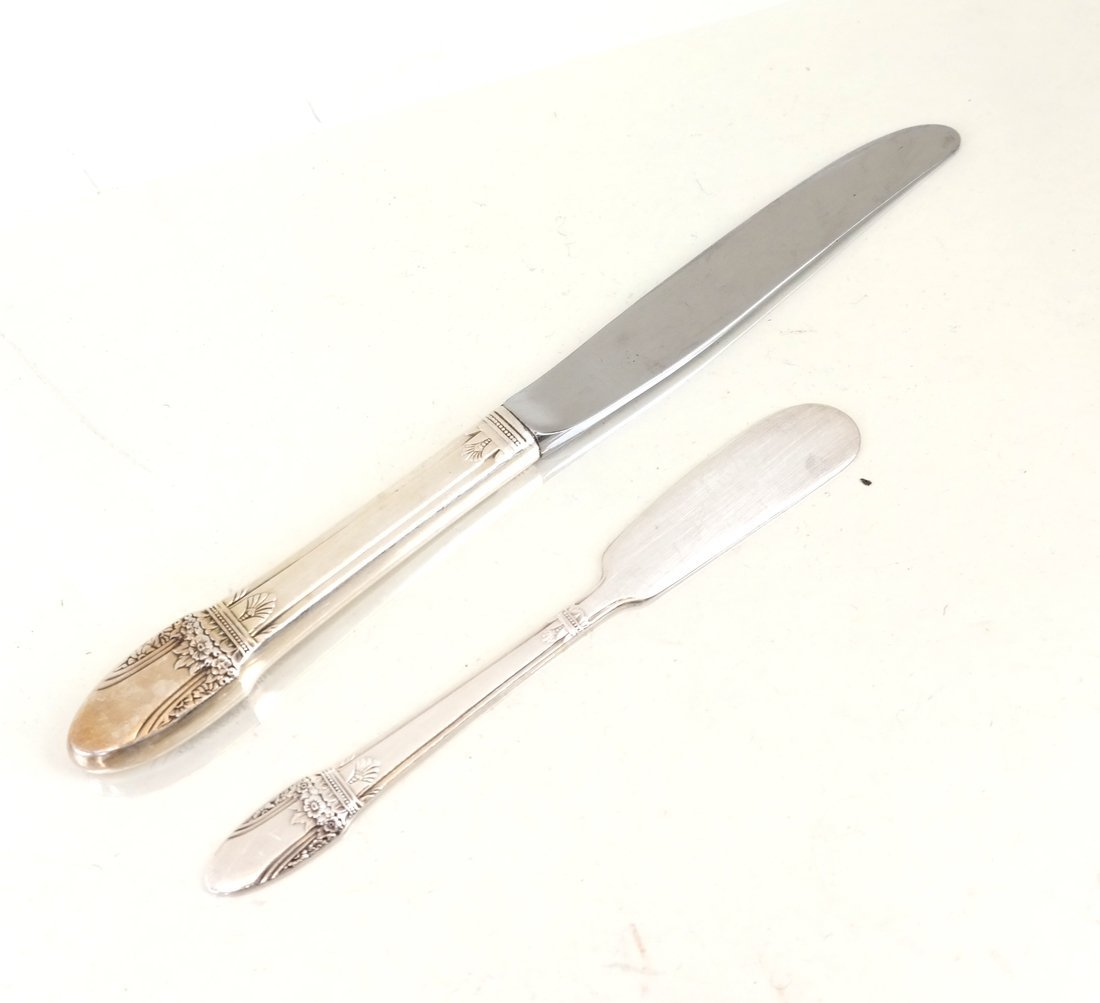 Silver-Plated Part Flatware Service - 4