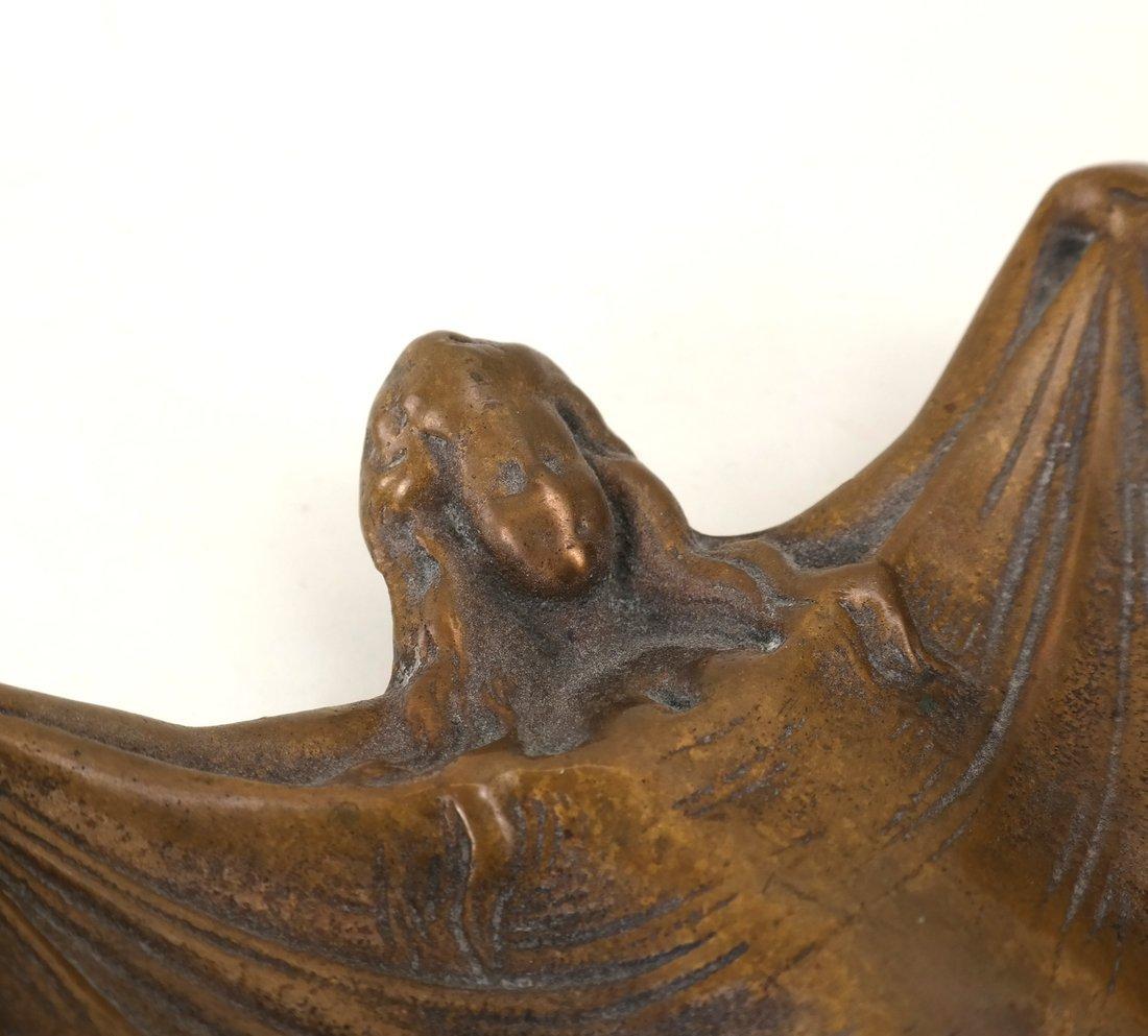 Art Nouveau Style Bronze Dish - 2