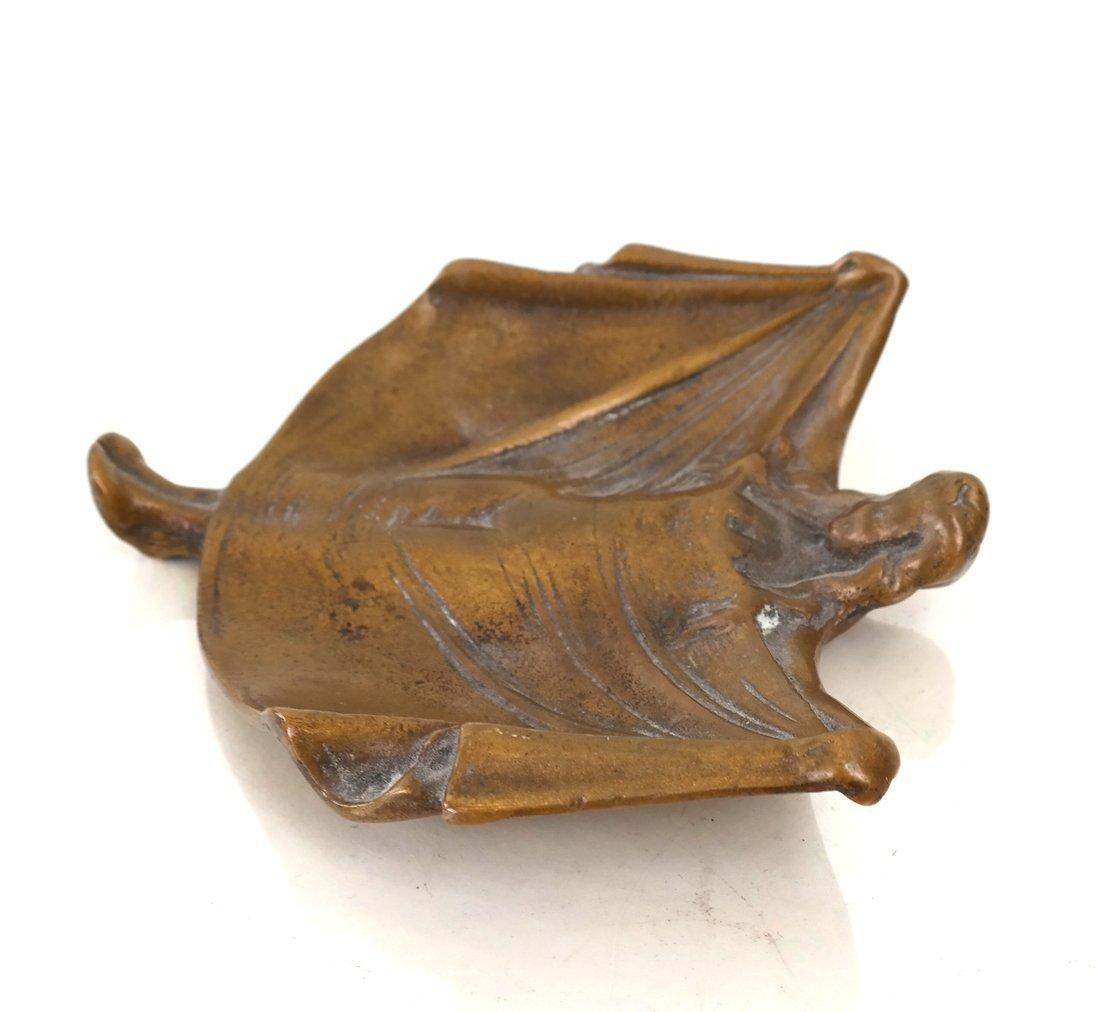 Art Nouveau Style Bronze Dish - 3