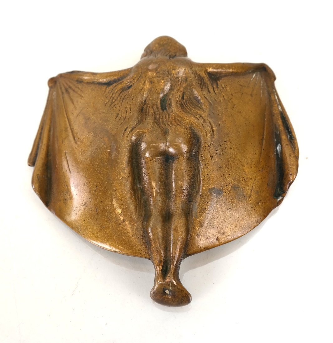 Art Nouveau Style Bronze Dish - 4