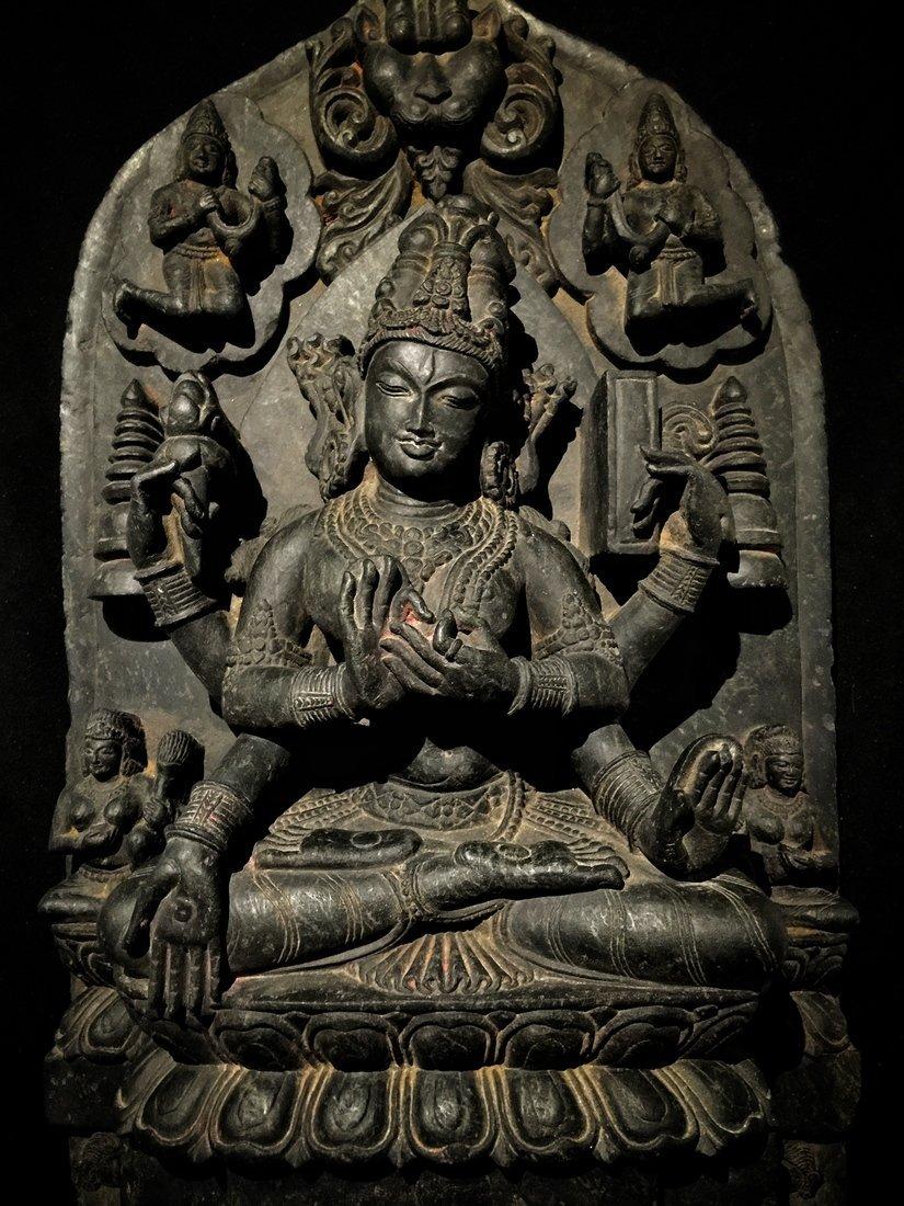 Large Pala-Type Stone Buddhist Sculpture