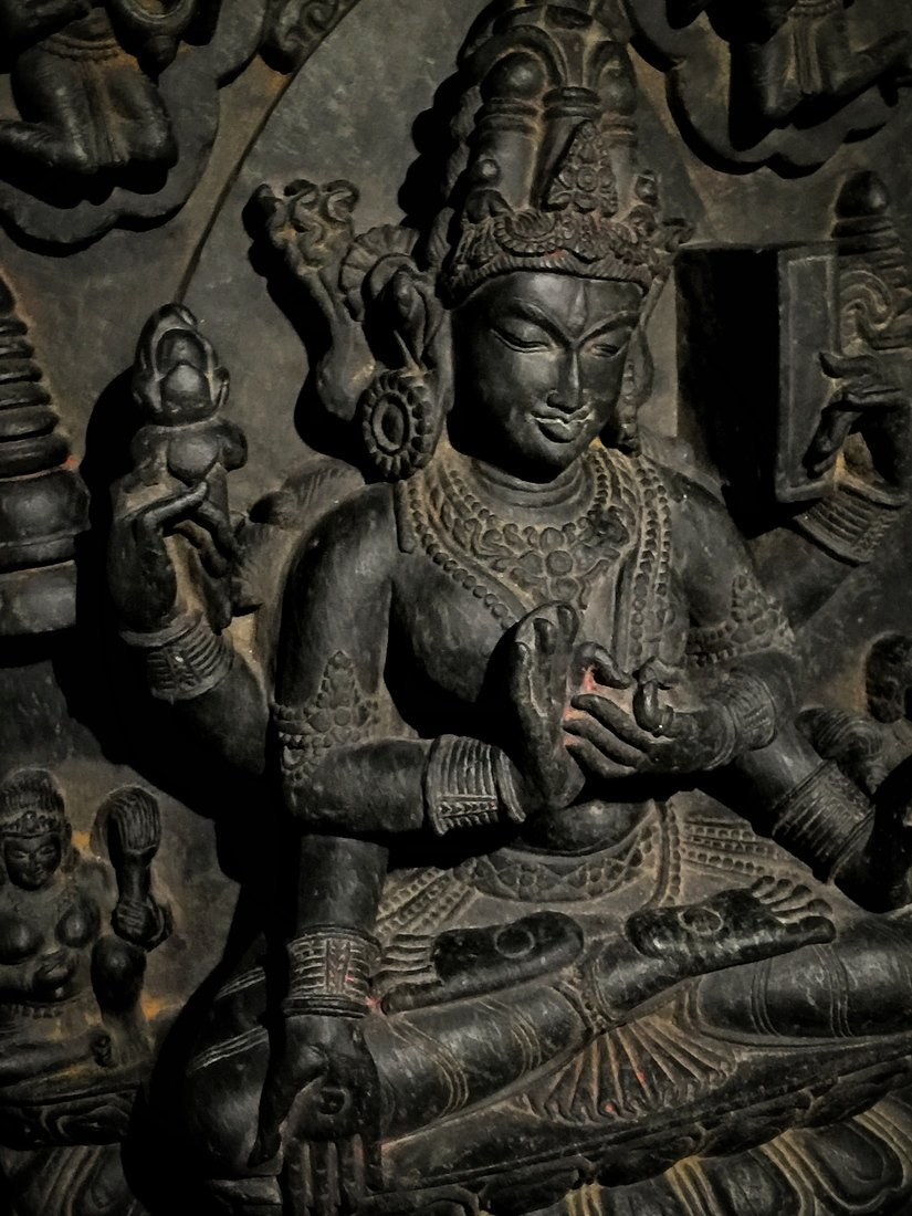 Large Pala-Type Stone Buddhist Sculpture - 2