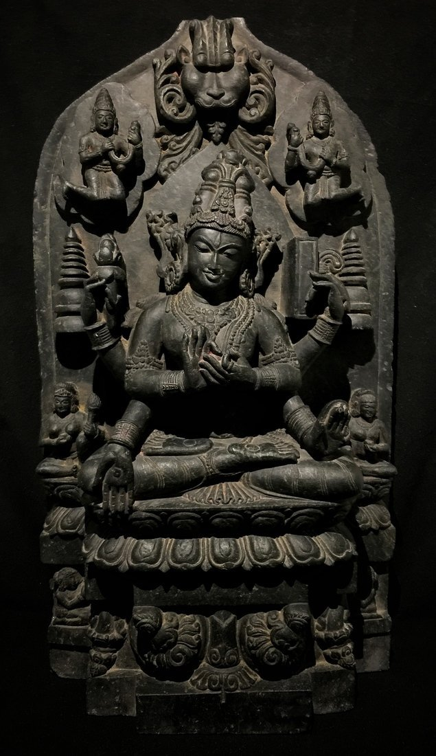 Large Pala-Type Stone Buddhist Sculpture - 7