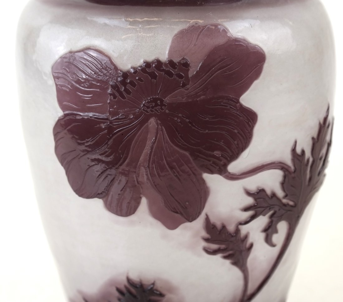French Fire-Polished Cameo Glass Vase - 3