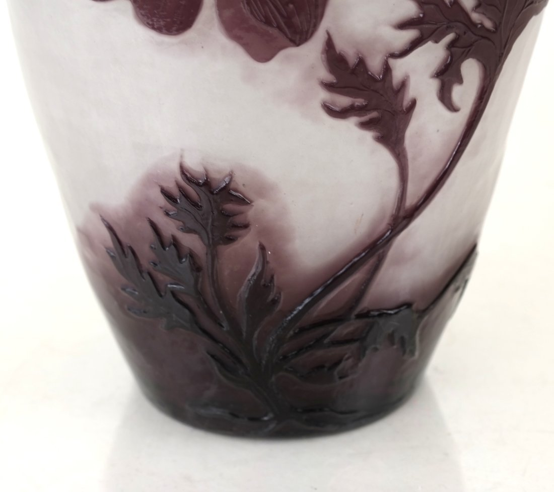 French Fire-Polished Cameo Glass Vase - 4
