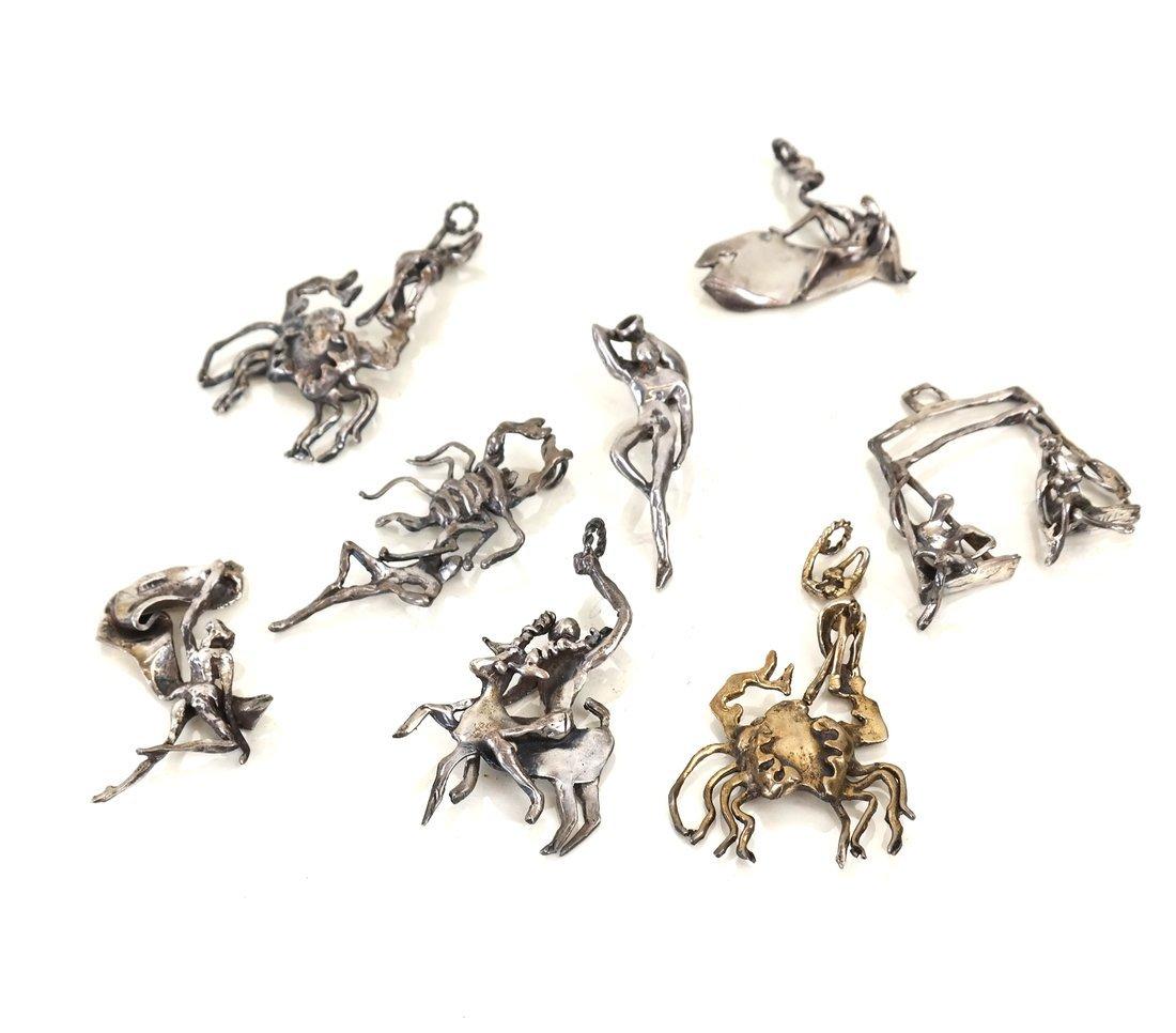 8 E. Silbert Cast Sterling Silver Figures