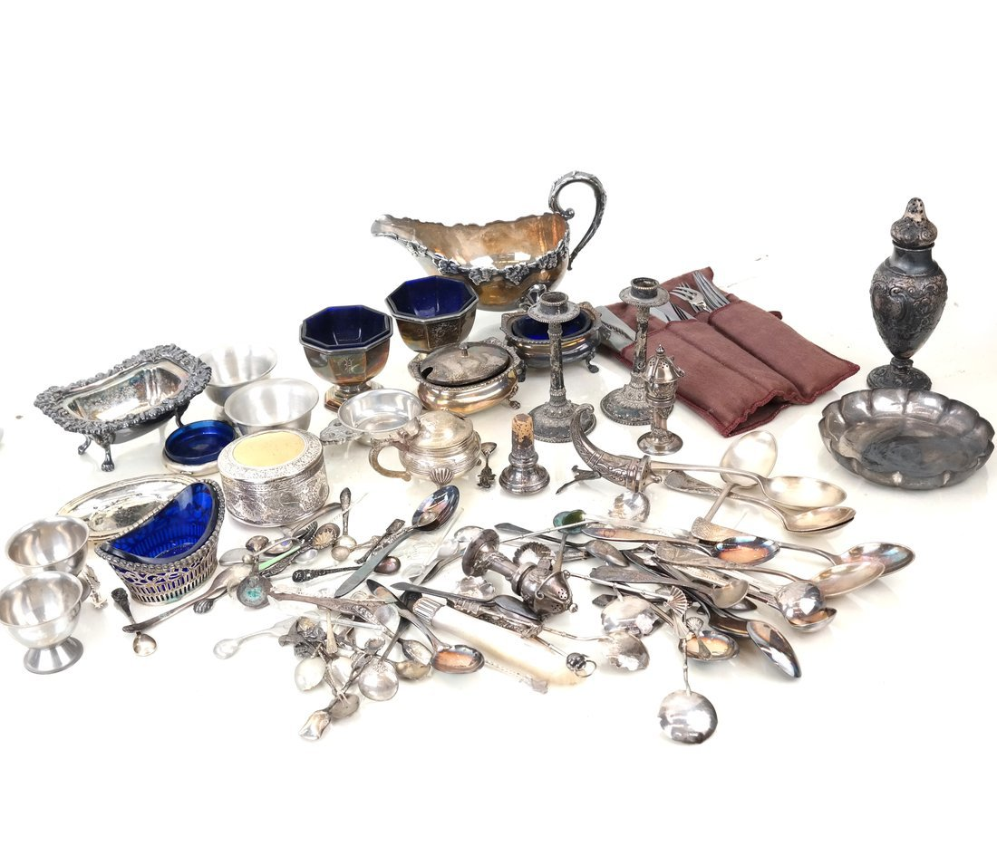 Group Silver-Plated & Silver Table Items