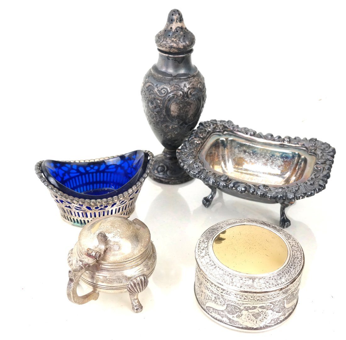 Group Silver-Plated & Silver Table Items - 4
