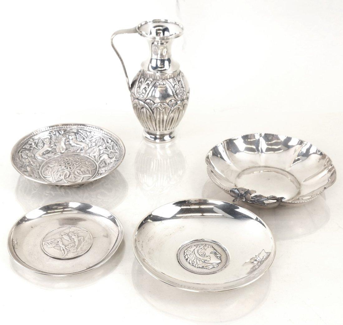 Five Greek Silver Souvenir Articles