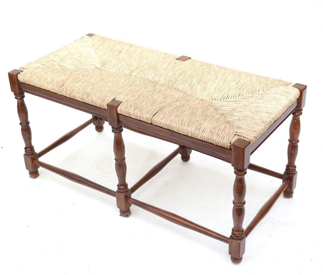 Reproduction Rush Seat Bench