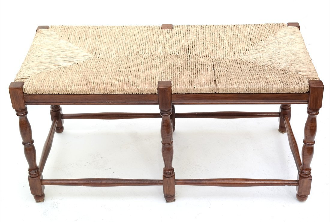 Reproduction Rush Seat Bench - 2