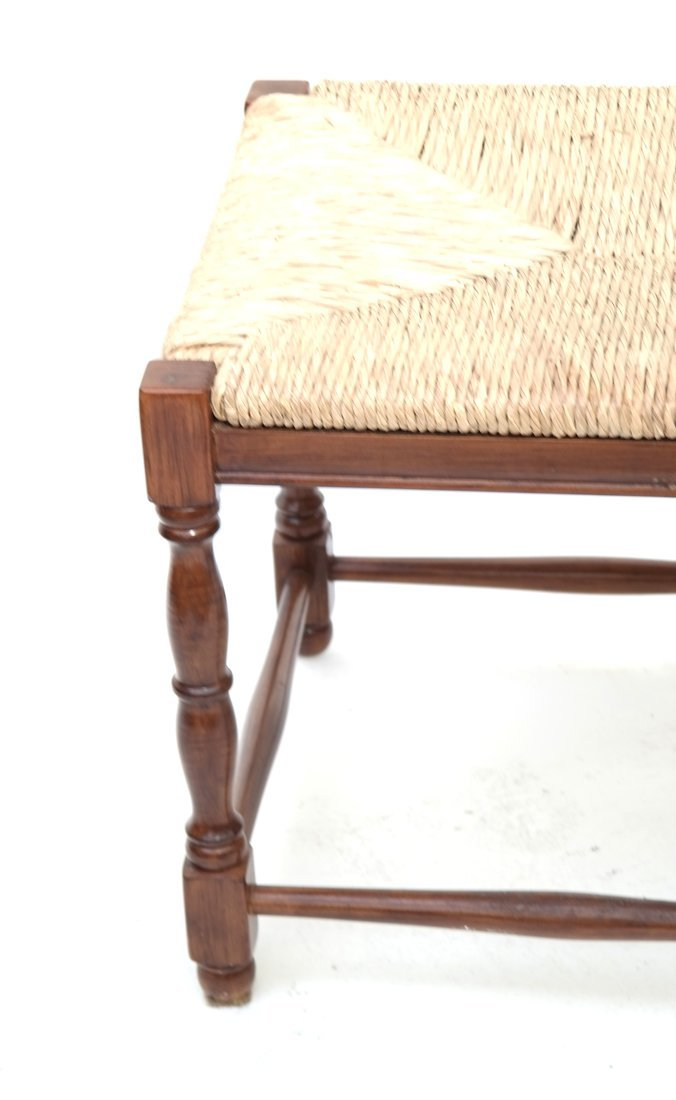 Reproduction Rush Seat Bench - 3