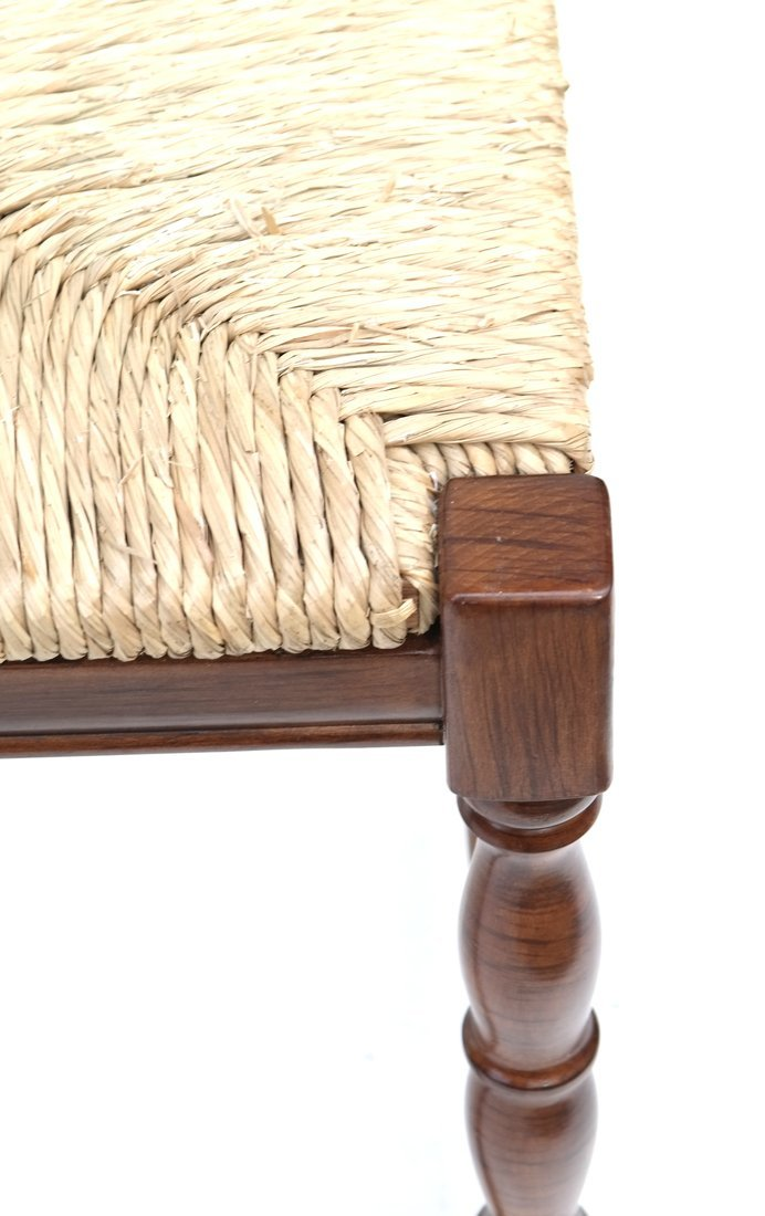 Reproduction Rush Seat Bench - 5