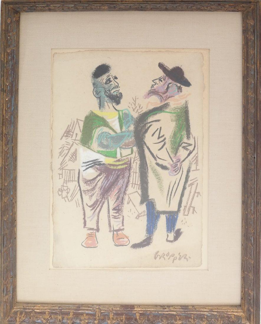 W. Gropper, Two Men - Crayon - 2
