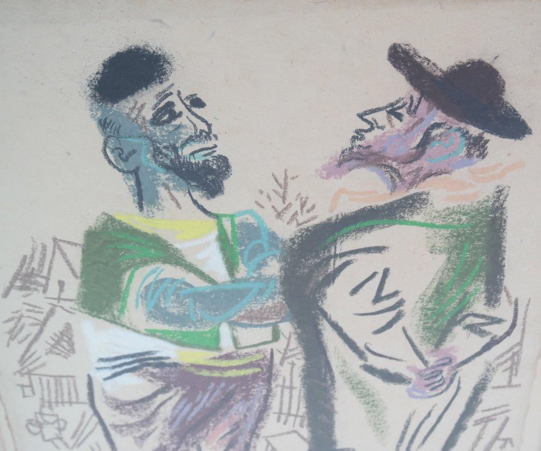 W. Gropper, Two Men - Crayon - 3