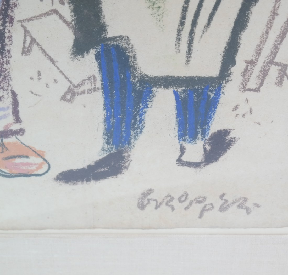 W. Gropper, Two Men - Crayon - 4