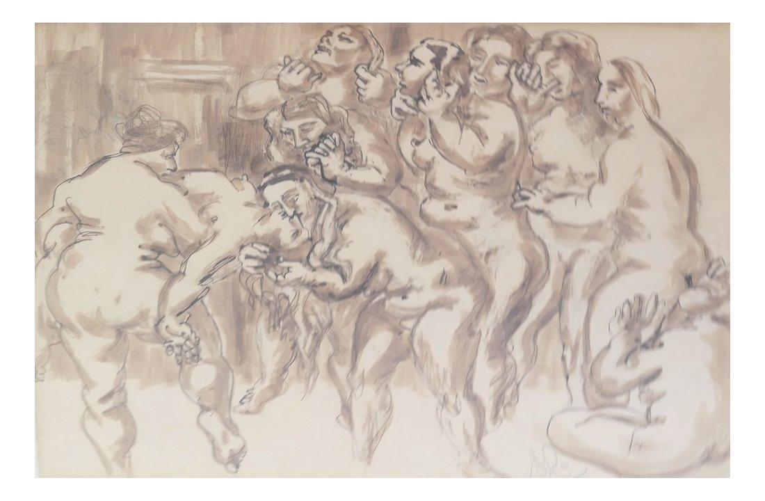 Watercolor, Erotic Nudes