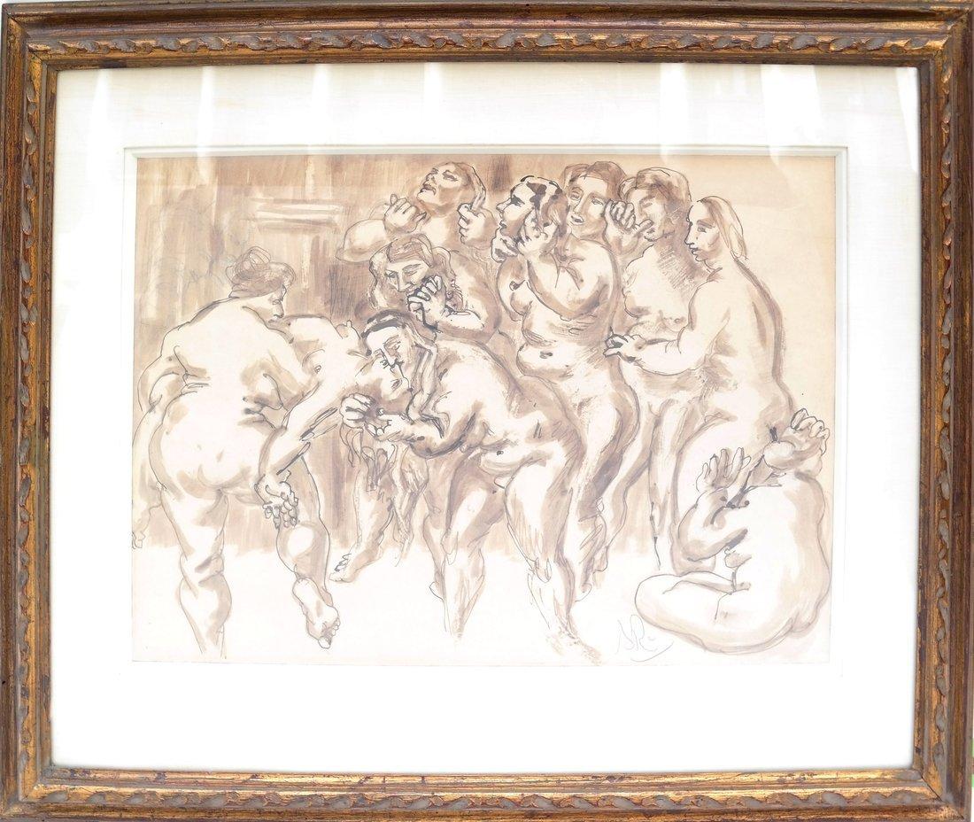 Watercolor, Erotic Nudes - 2