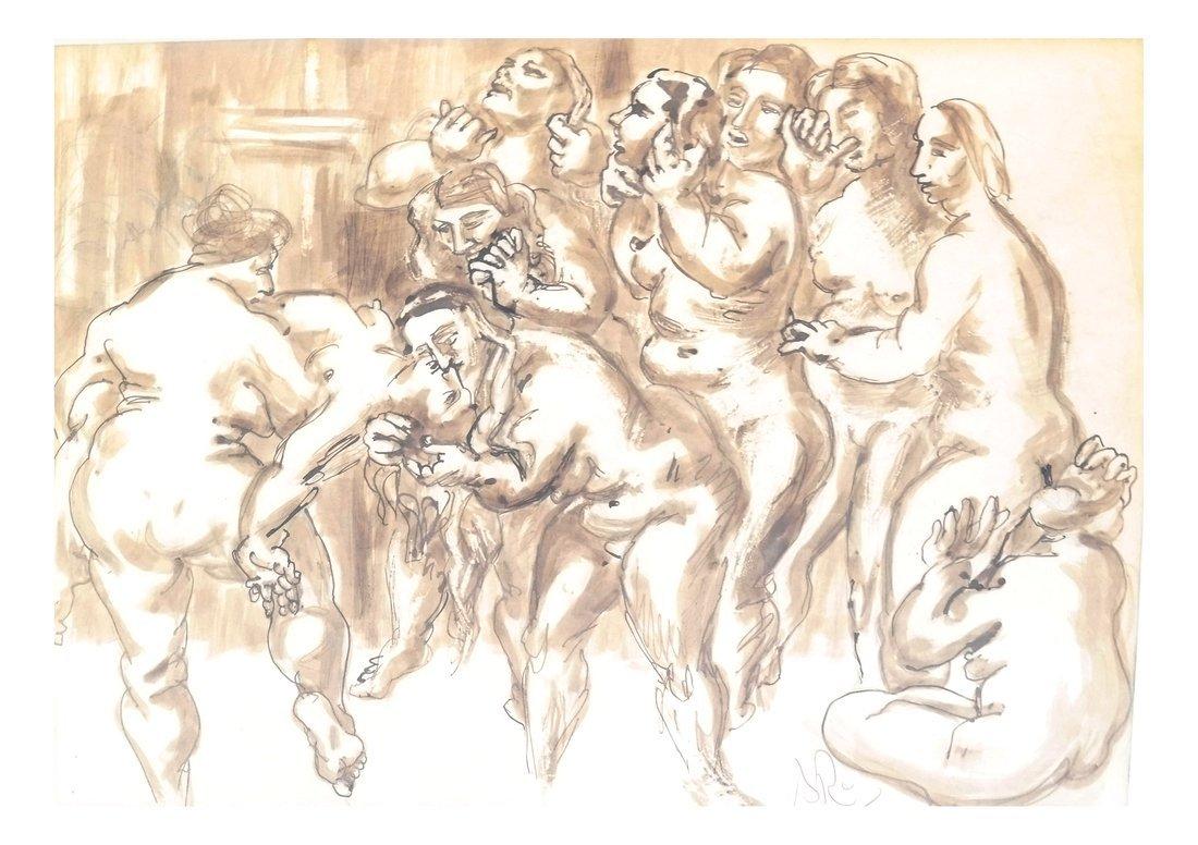 Watercolor, Erotic Nudes - 3
