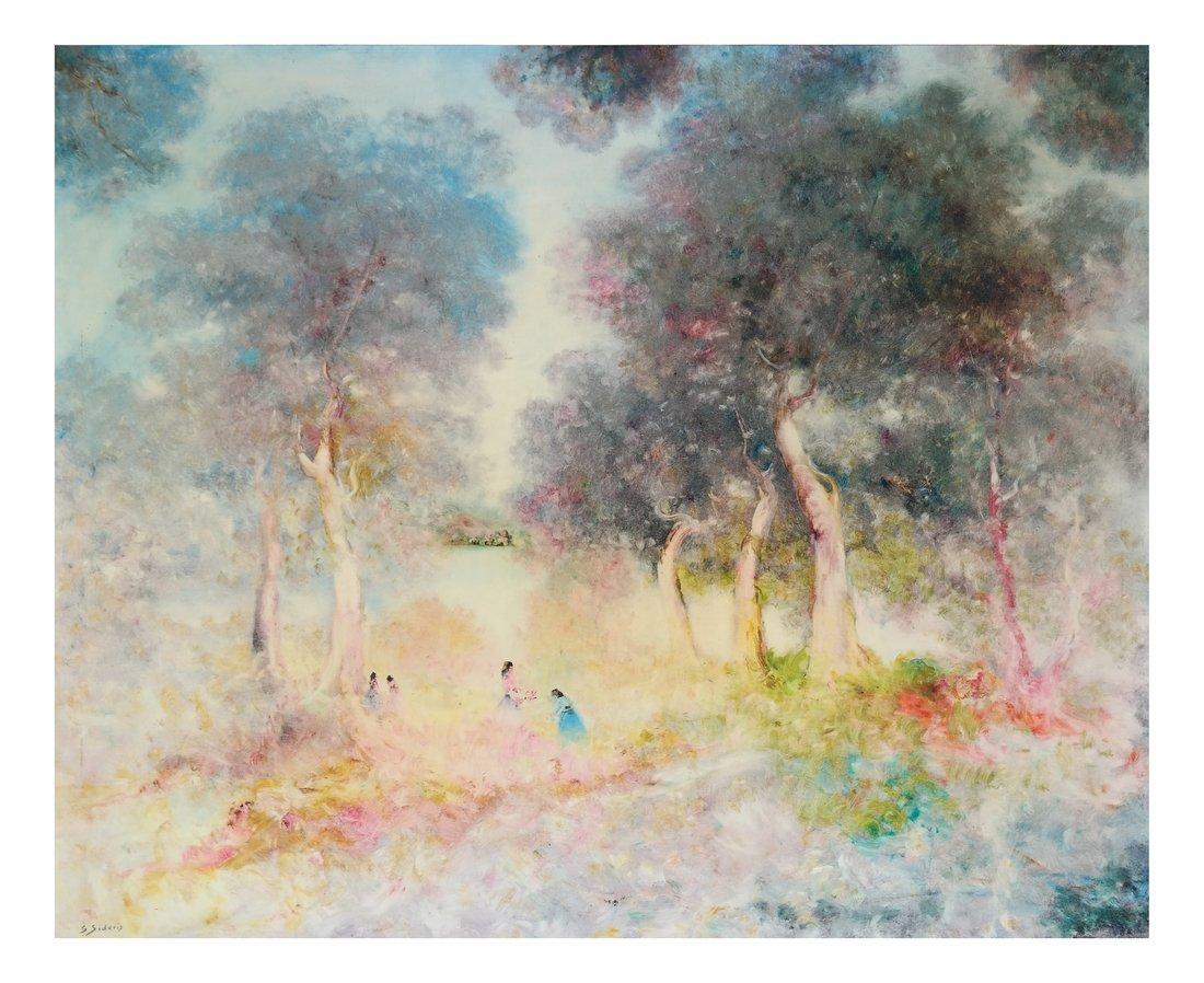 Stefano Sideris, Figures in Landscape