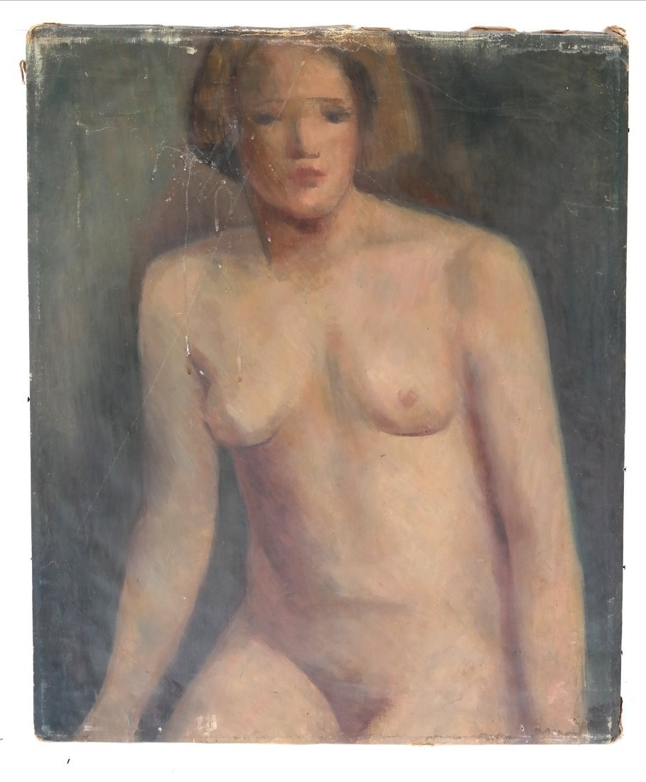 Oil on Canvas, Nude - 2