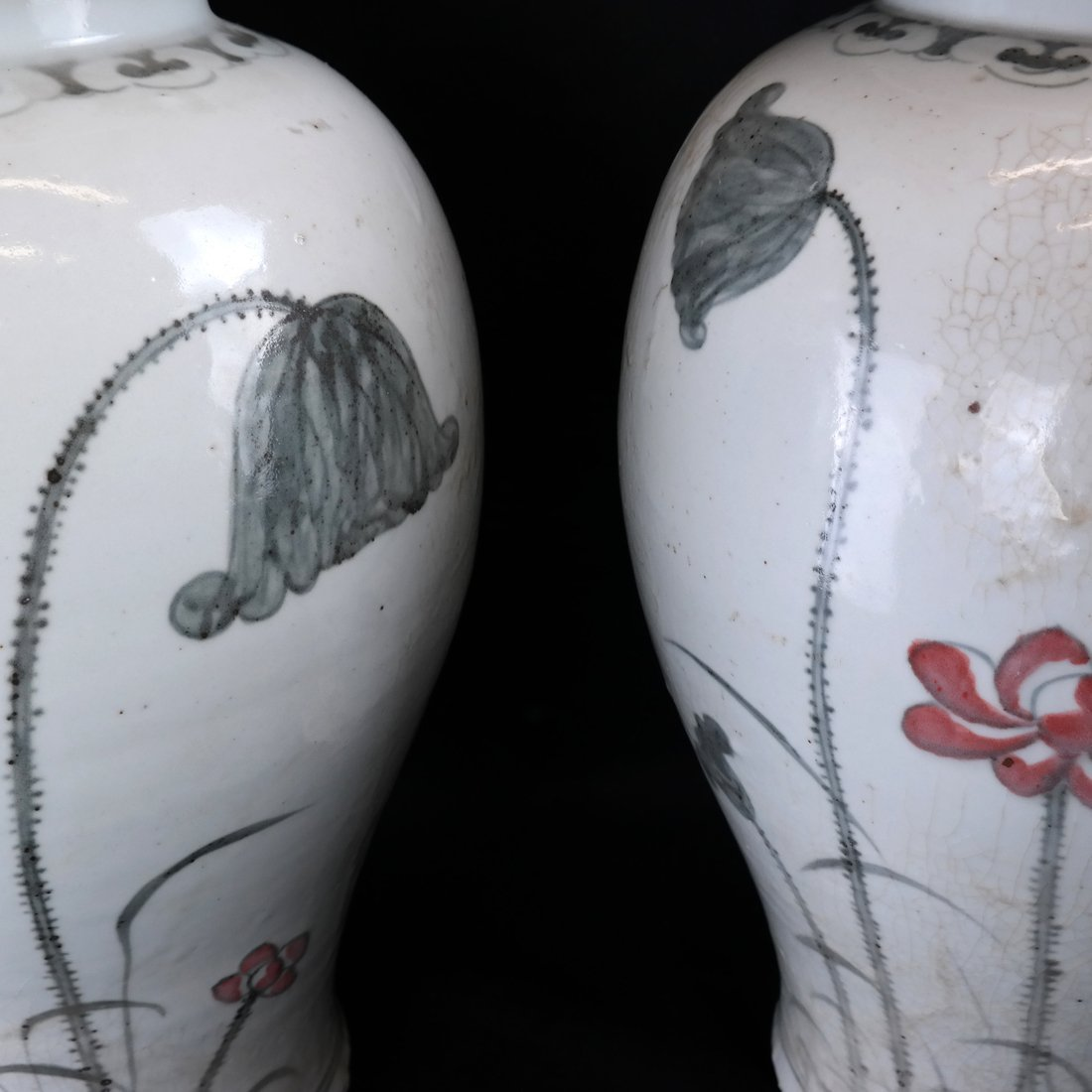 2 Chinese Porcelain Covered Temple Jars - 4