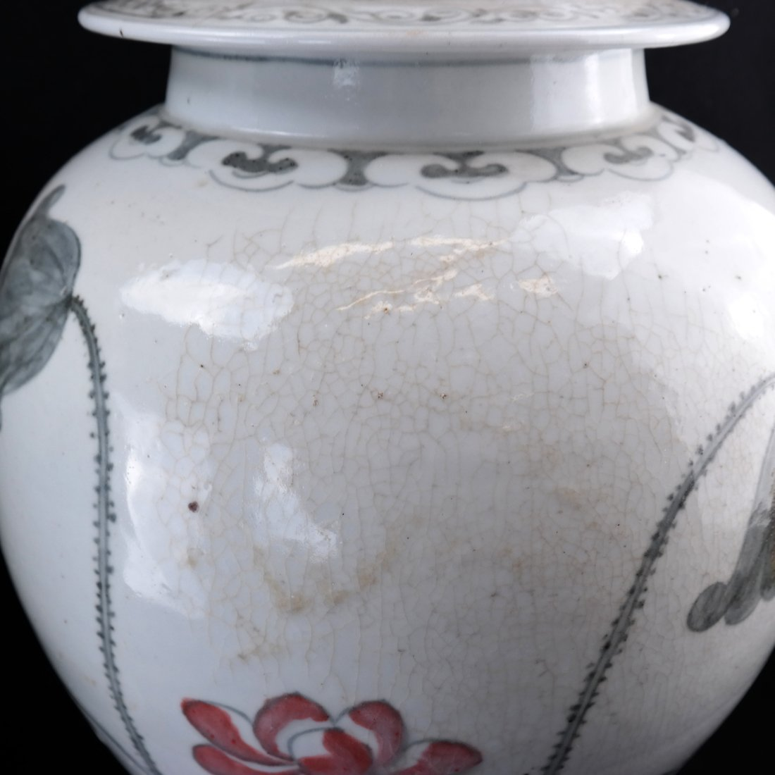2 Chinese Porcelain Covered Temple Jars - 7