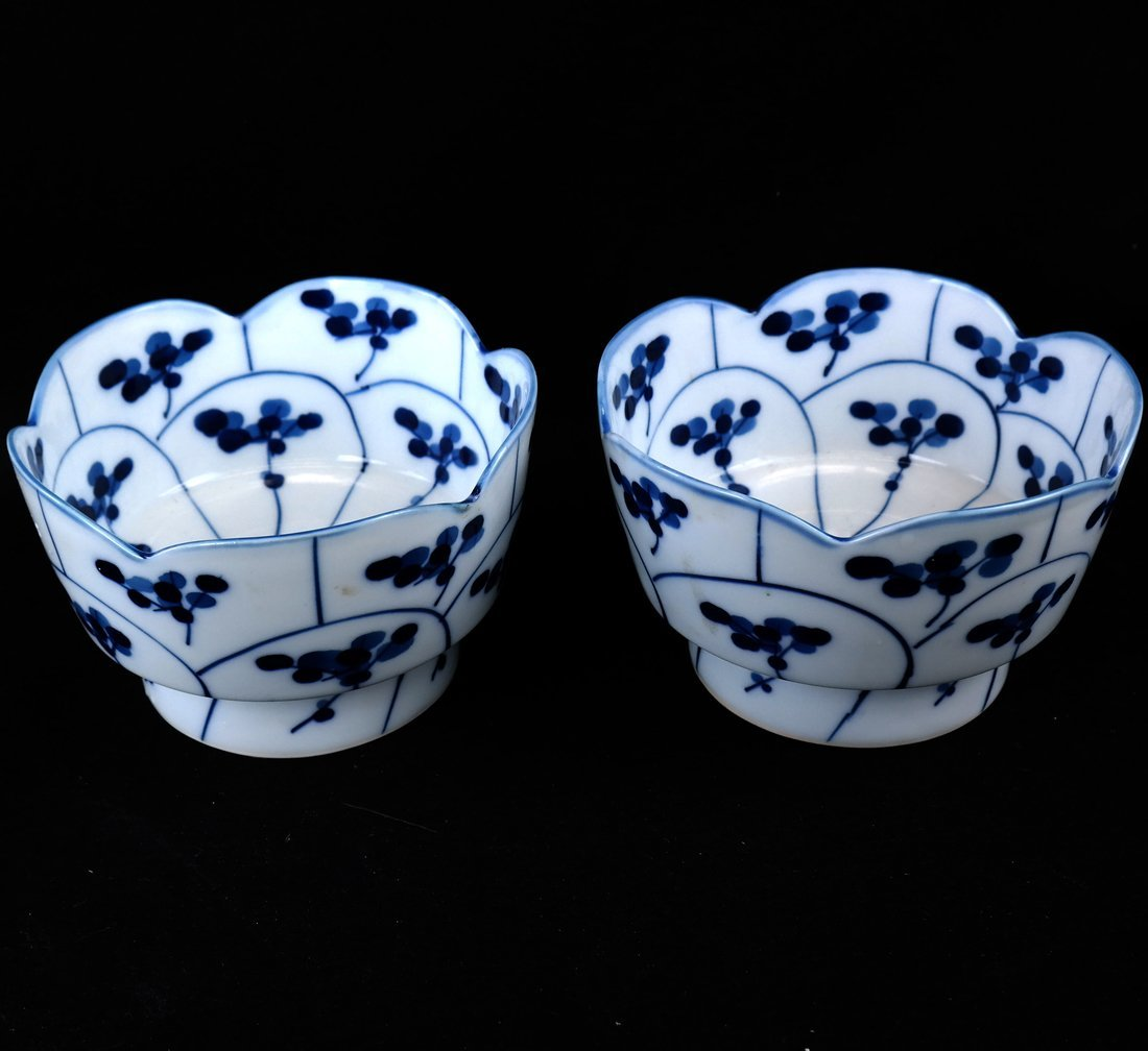 Pair of Blue and White Bowls