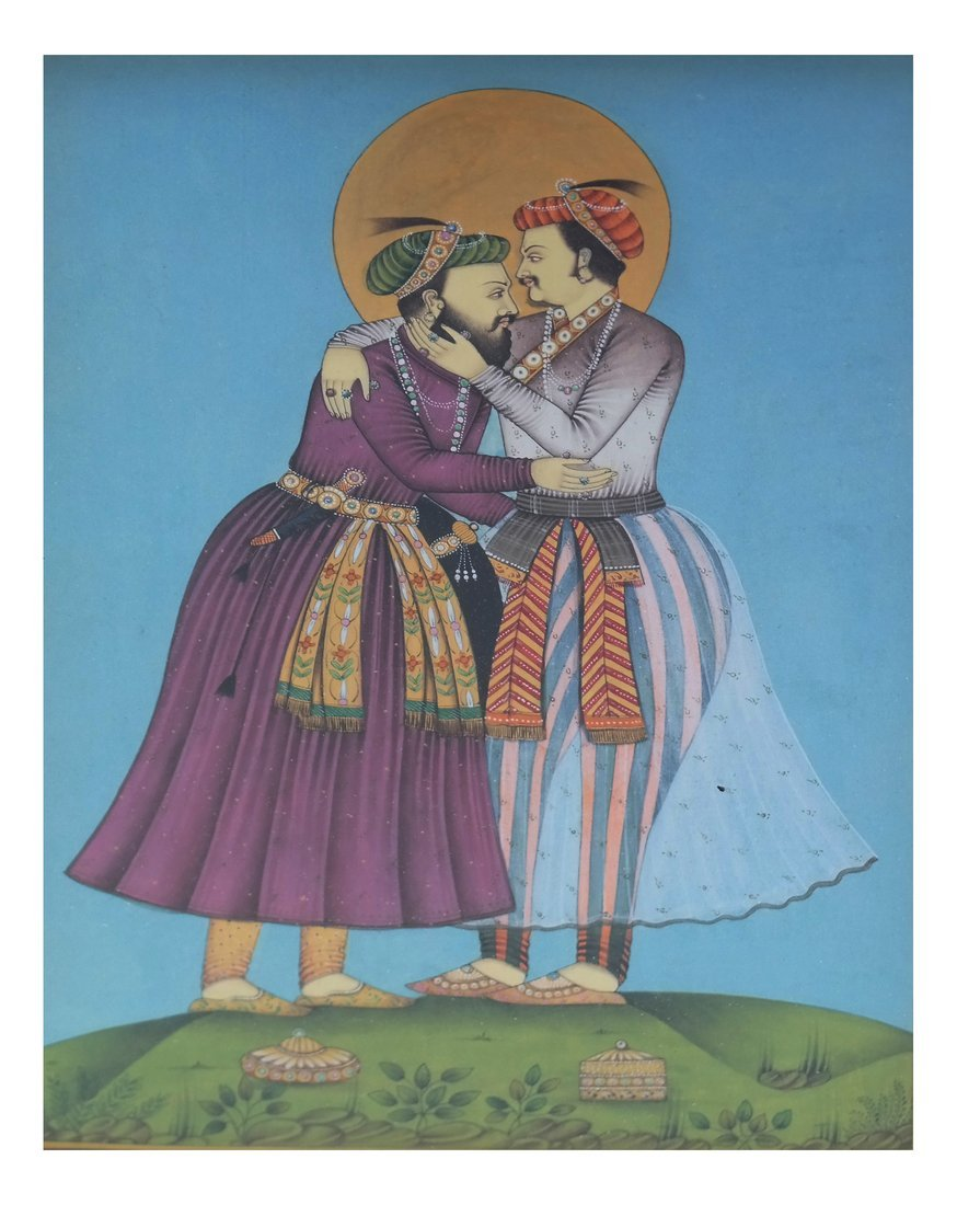Indian Miniature Painting, Two Men