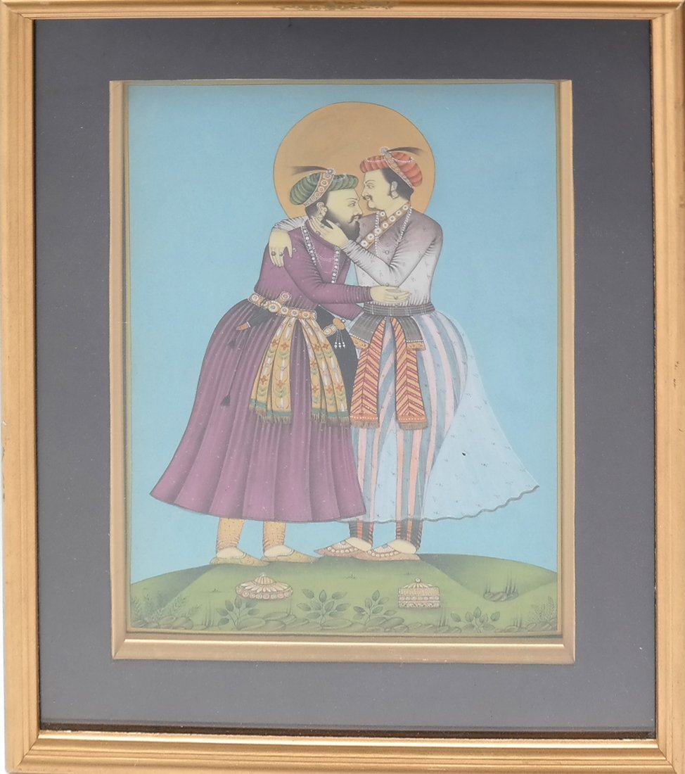 Indian Miniature Painting, Two Men - 2