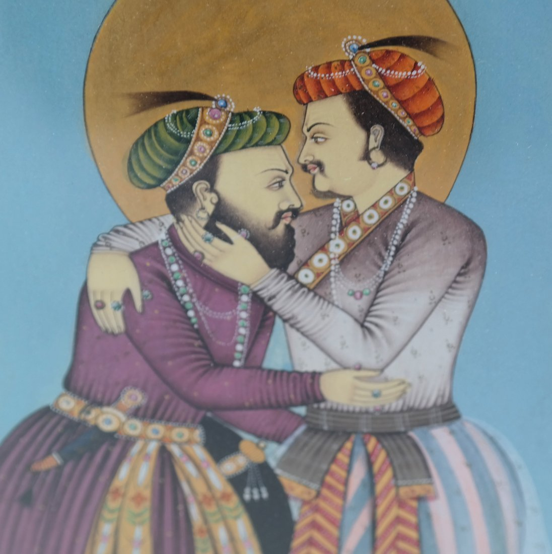 Indian Miniature Painting, Two Men - 3