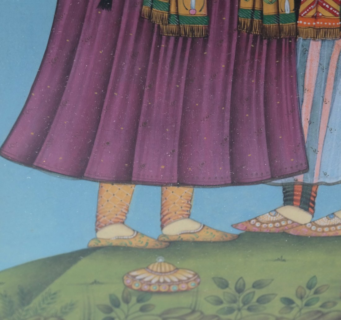 Indian Miniature Painting, Two Men - 4