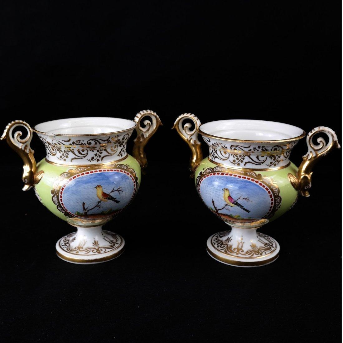 Pair Paris Porcelain Two-Handled Vases