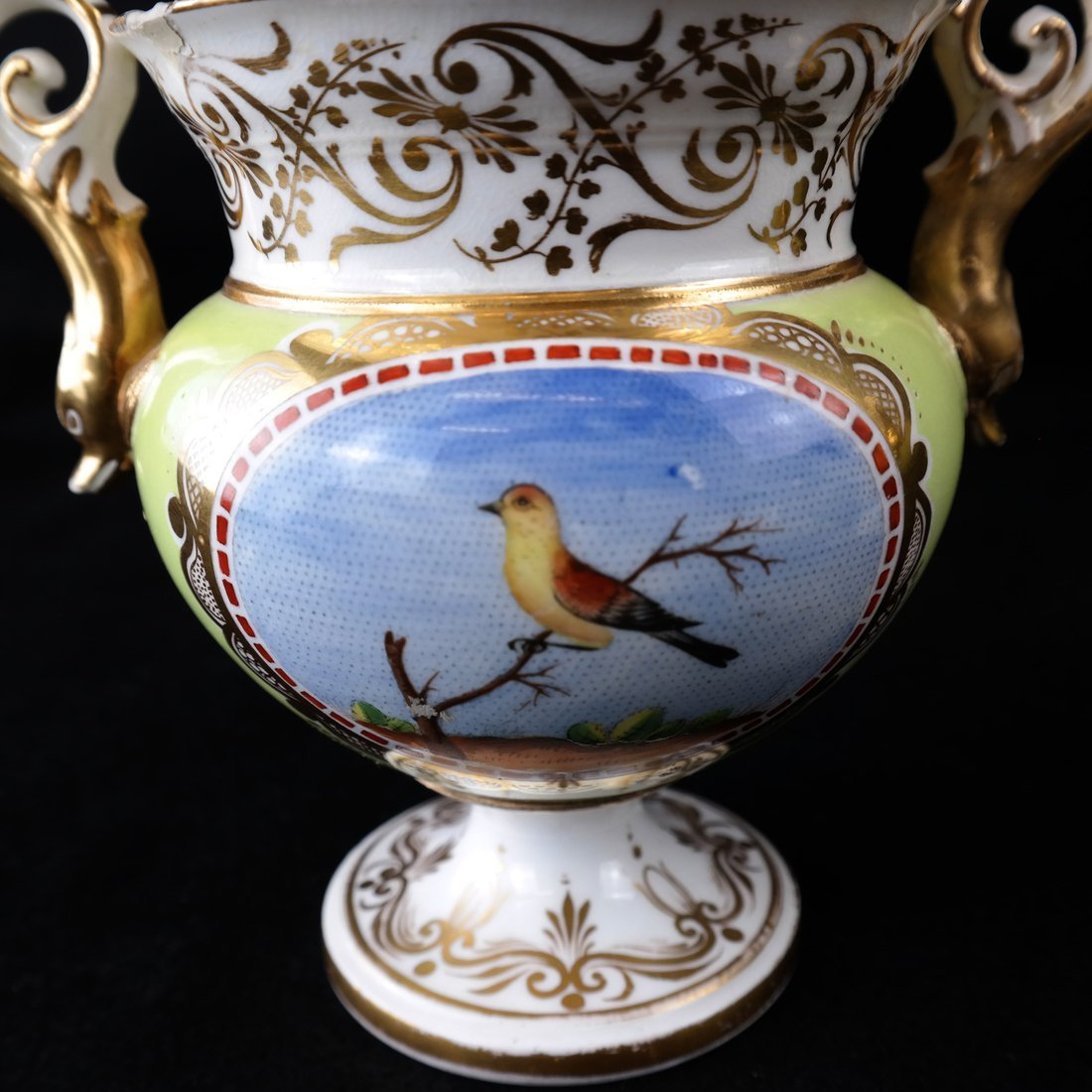 Pair Paris Porcelain Two-Handled Vases - 4