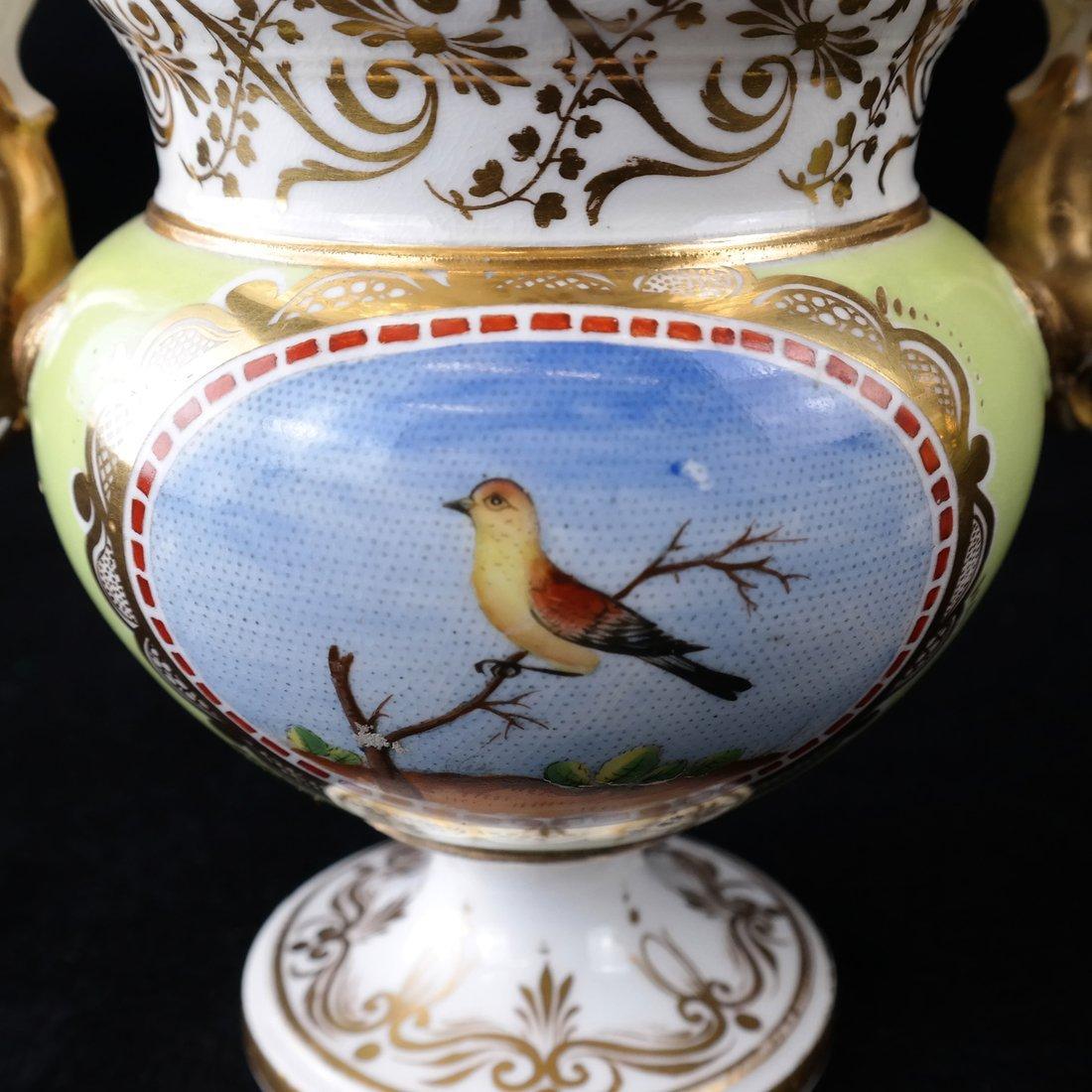 Pair Paris Porcelain Two-Handled Vases - 5