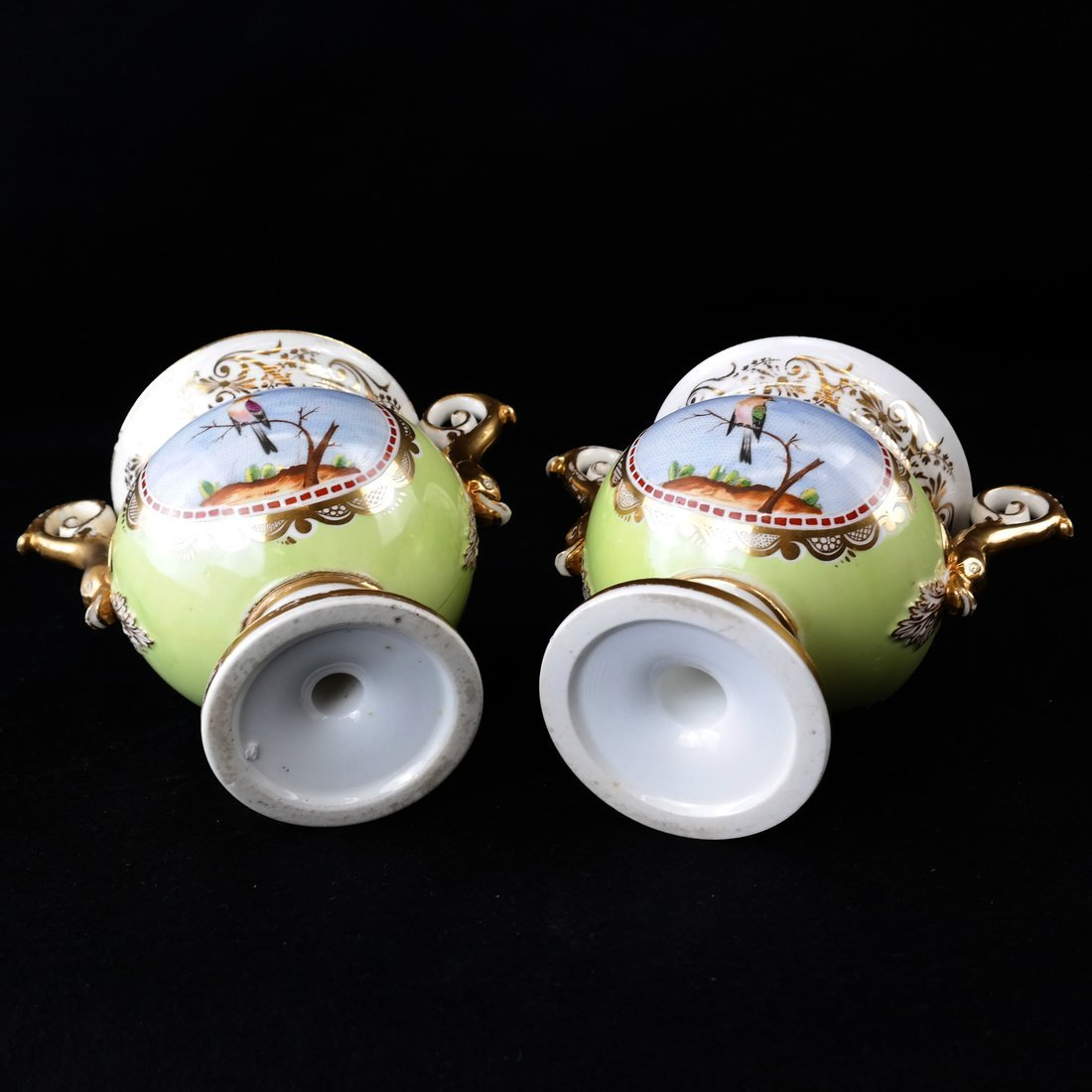 Pair Paris Porcelain Two-Handled Vases - 7