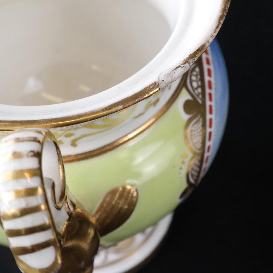 Pair Paris Porcelain Two-Handled Vases - 9